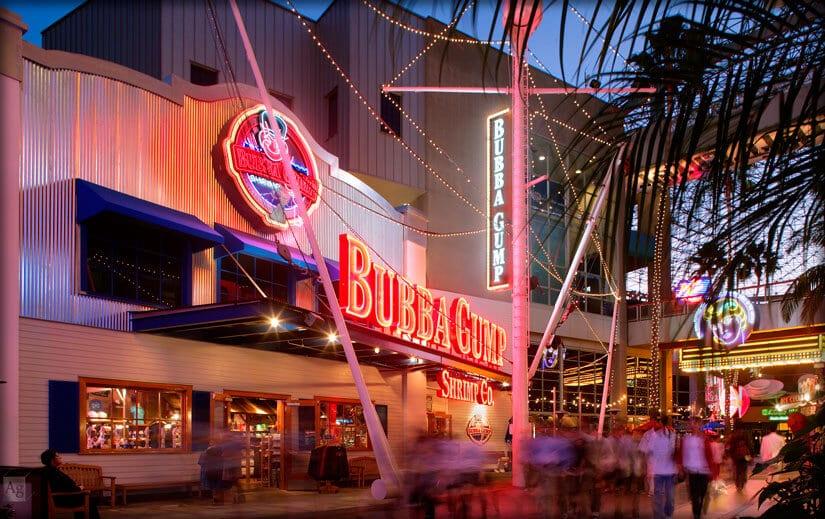 Restaurante Bubba Gump Shrimp Co. no CityWalk em Orlando