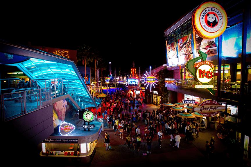 Universal CityWalk em Orlando: Bares, restaurante e atrações