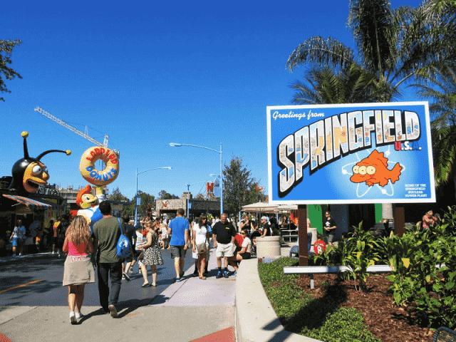 Parque Springfield dos Simpsons em Orlando