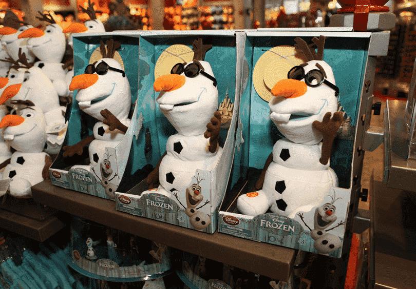 Produtos vendidos na World Of Disney em Orlando