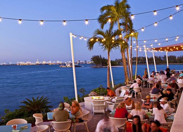 Restaurante Rusty Pelican em Miami em Key Biscayne
