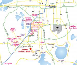 Onde ficar em Orlando: mapa