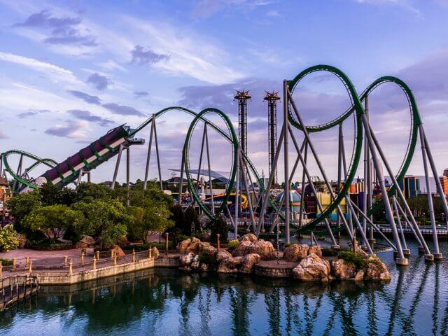 Relançamento da montanha-russa do Hulk em Orlando