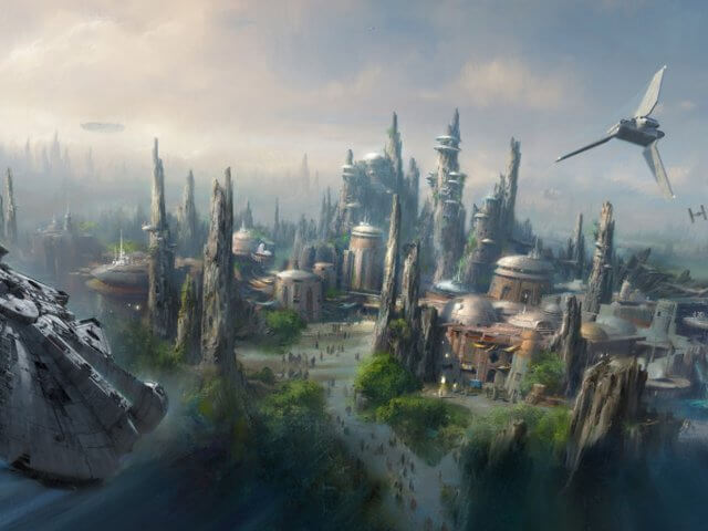 Área Star Wars: Galaxy's Edge no Disney's Hollywood Studios em Orlando