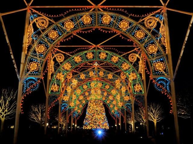 Natal no parque Disney Epcot em Orlando