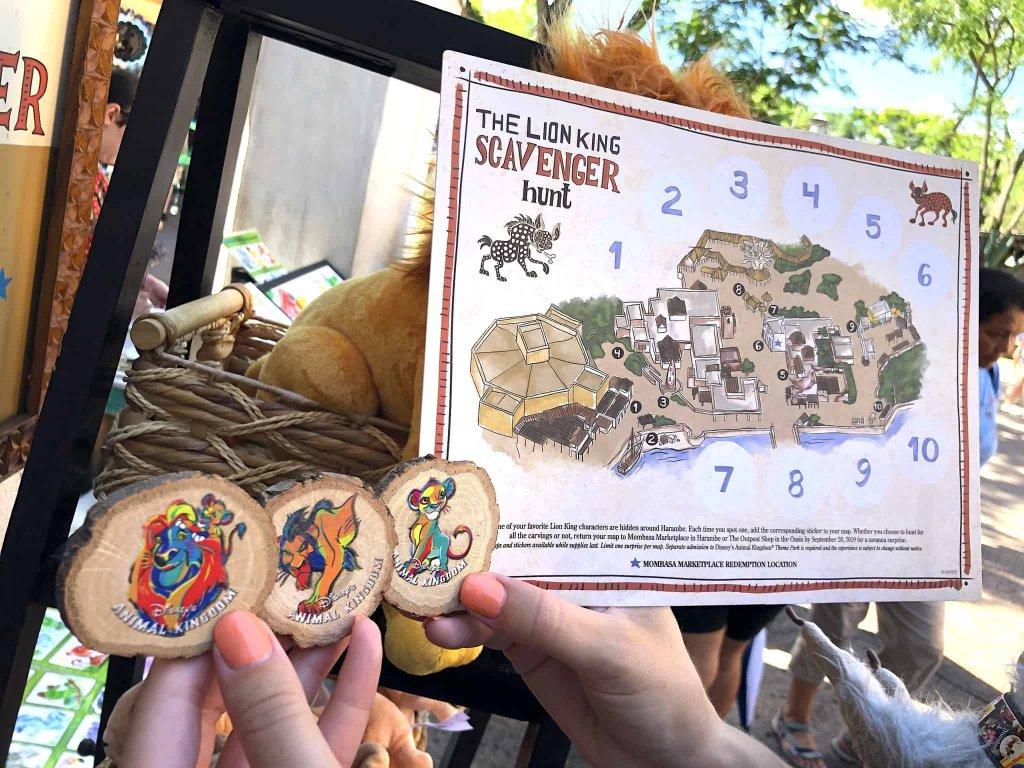 Caça ao tesouro de O Rei Leão no Disney Animal Kingdom