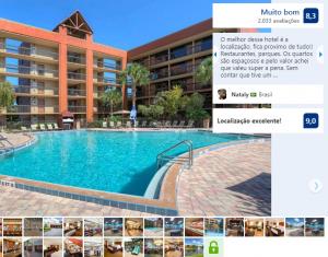 Piscina do Hotel Clarion Inn Lake Buena Vista em Orlando
